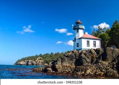 Lime Kiln Point Lighthouse, Haro Straight, WA