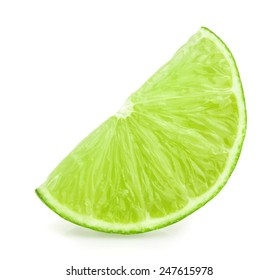 lime slice isolated