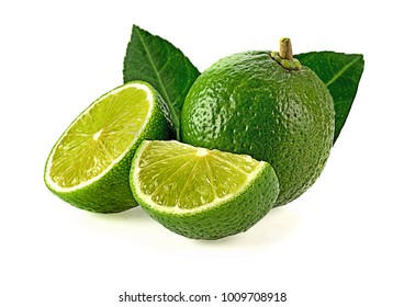 lime slice isolated on white background