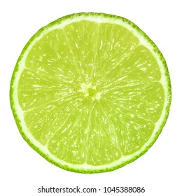 lime slice isolated without shadow