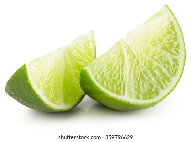 lime slices isolated on the white background