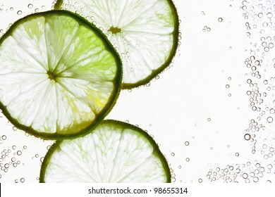 Lime in the water