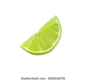 Lime with white background.