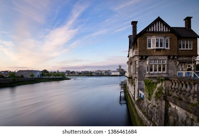 Limerick City view Shannon river