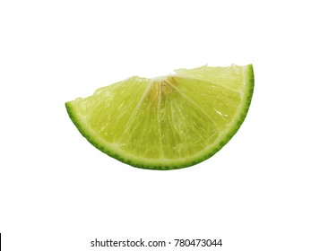 Limes isolated on the white background