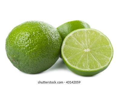 limes isolated over white