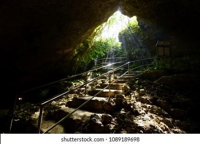 limestone cave in ishigaki island