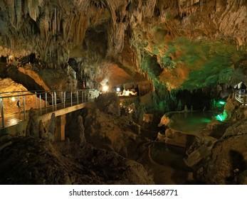 A limestone cave on Ishigaki Island in Okinawa Prefecture.