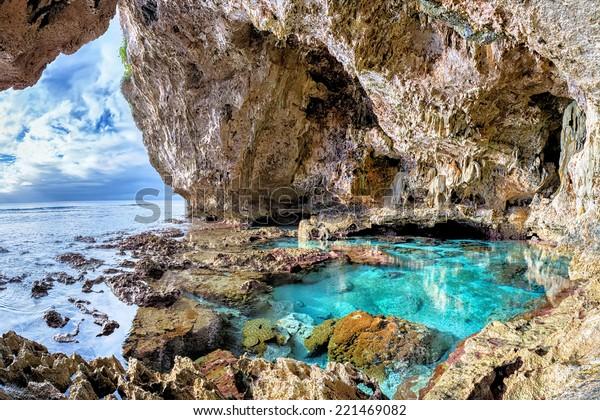 Limestone cave and pool, Avaiki, Niue
