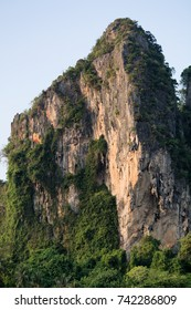 Limestone cliff at Railey beach - Krabi, Thailand