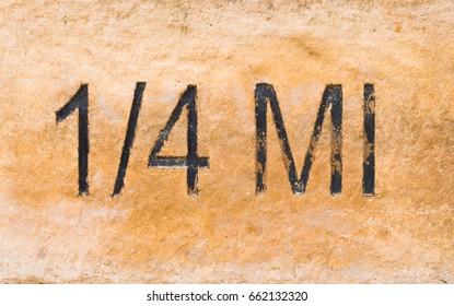 Limestone distance marker