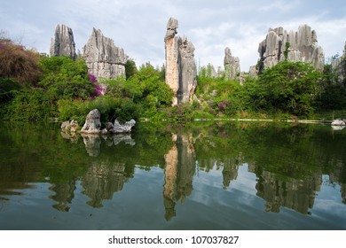"A limestone formation named ""A-Shi-Ma"" at Kunming Stone forest or Shilin, a UNESCO World Heritage Sites, Yunnan China."