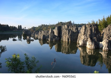 Limestone formation at the Shilin Stone Forest National Park, near Kunming, China.