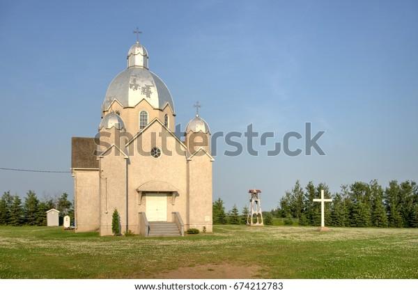 Limestone Lake Ukrainian Catholic church - parish of St. Michael's formed 1898,present built 1939