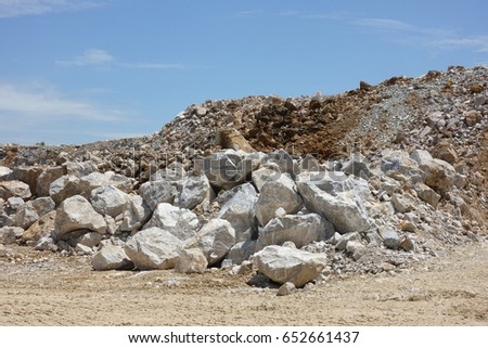 Limestone Mining Quarry   Royalty-Free Stock Image