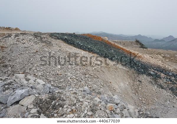 Limestone mining, Quarry