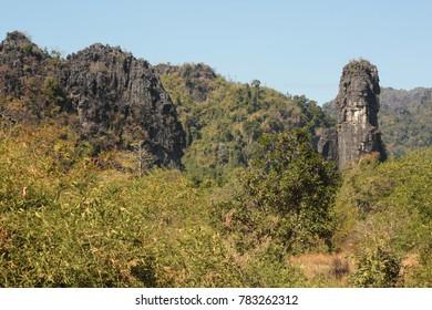 Limestone Mountain in Tha  khek city , Khammouan ,Lao PDR - Shutterstock ID 783262312