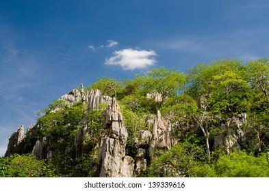 Limestone mountain in Thailad
