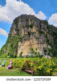 The limestone mountains are over 300 million years old. Phitsanulok Province. Beautiful and mountainous with many caves.