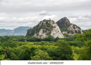 Limestone mountains, Rock mountain, Stone mountain with green forest