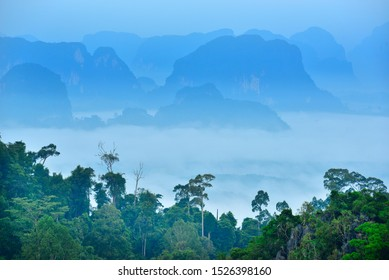 limestone mountains in southern Thailand Krabi Province