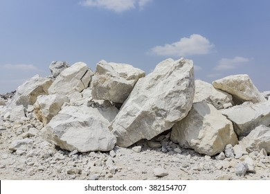 limestone in quarry