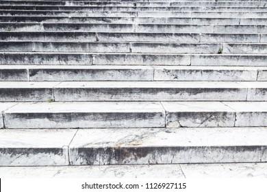 Limestone stairs background.