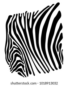 Limited background with the image of strips of a zebra. Vector. Isolated on white background