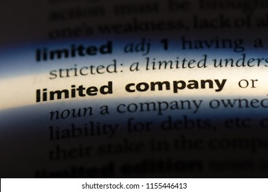 limited company word in a dictionary. limited company concept.