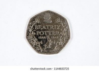 Limited release Beatrix Potter fifty pence coin