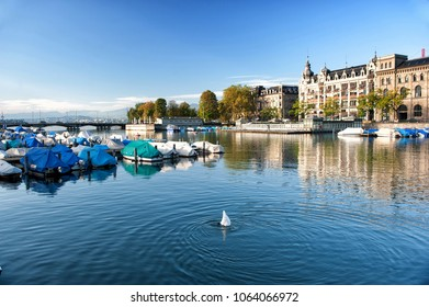 Limmat river in Zurich