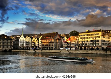 Limmat river and from Zurich