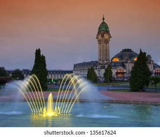 Limoges station by night