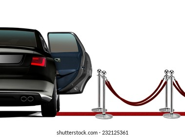 Limousine on Red Carpet Arrival