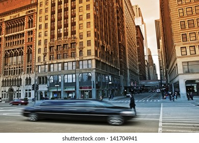 Limousine Ride in Chicago, USA. Limo Transportation