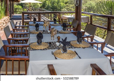 Limpopo South Africa 24 March 2016 The Makweti Private Lodge is luxurious accomodation and dining  n the Welgevonden Game Reserve