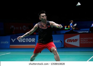 Lin Dan of China in action on day two of the Badminton Malaysia Open at Axiata Arena on April 3, 2019 in Kuala Lumpur, Malaysia.