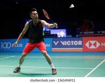 Lin Dan of China in action on day five of the Badminton Malaysia Open at Axiata Arena on April 06, 2019 in Kuala Lumpur, Malaysia