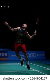 Lin Dan of China in action on day six of the Badminton Malaysia Open at Axiata Arena on April 07, 2019 in Kuala Lumpur, Malaysia