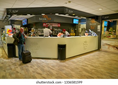 LINATE, ITALY - CIRCA NOVEMBER, 2017: Briciole Bar in Milan Linate Airport.