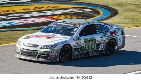 Lincoln, Alabama - 10/23/2016:  Hendrick Motorsports #88 race car exiting pit road during the NASCAR Sprint Cup Hellmann's 500 at Talladega Superspeedway.  Substitute driver is Alex Bowman.