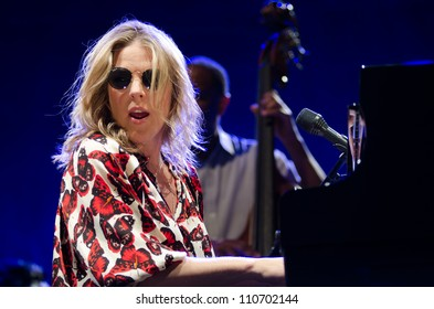 LINCOLN, CA - AUG 18: Diana Krall performs at Thunder Valley Casino Resort in Lincoln, California on August 18, 2012