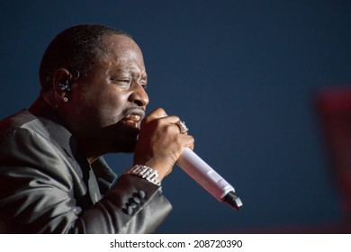 LINCOLN, CA - August 1: Johnny Gill of New Edition performs at Thunder Valley Casino Resort in Lincoln, California on August 1, 2014