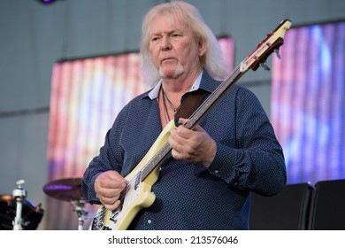 LINCOLN, CA - August 23: Chris Squire of the band Yes performs at Thunder Valley Casino Resort in Lincoln, California on August 23, 2014