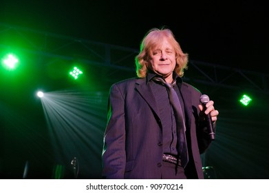 LINCOLN, CA - DEC 15: Eddie Money performs in Jingle Bell Rock with Mickey Thomas at Thunder Valley Casino Resort in Lincoln, California on December 15, 2011