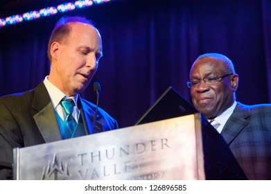 LINCOLN, CA - FEB 2: Dusty Baker accepts award at the Sacramento Sports Hall of Fame ceremony at Thunder Valley Casino Resort in Lincoln, California on February 2, 2013