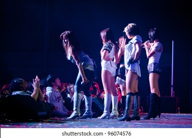 LINCOLN, CA - FEBRUARY 24: K-Pop group Blush  performs at Thunder Valley Casino Resort in Lincoln, California on February 24, 2012