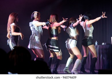 LINCOLN, CA - FEBRUARY 24:: K-Pop group Blush  performs at Thunder Valley Casino Resort in Lincoln, California on February 24, 2012