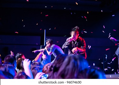 LINCOLN, CA - FEBRUARY 24: K-Pop group Iammedic performs at Thunder Valley Casino Resort in Lincoln, California on February 24, 2012