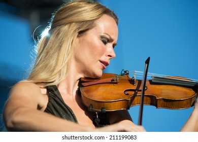 LINCOLN, CA - July 26: Caroline Campbell performs with Chris Botti at Thunder Valley Casino Resort in Lincoln, California on July 26, 2014